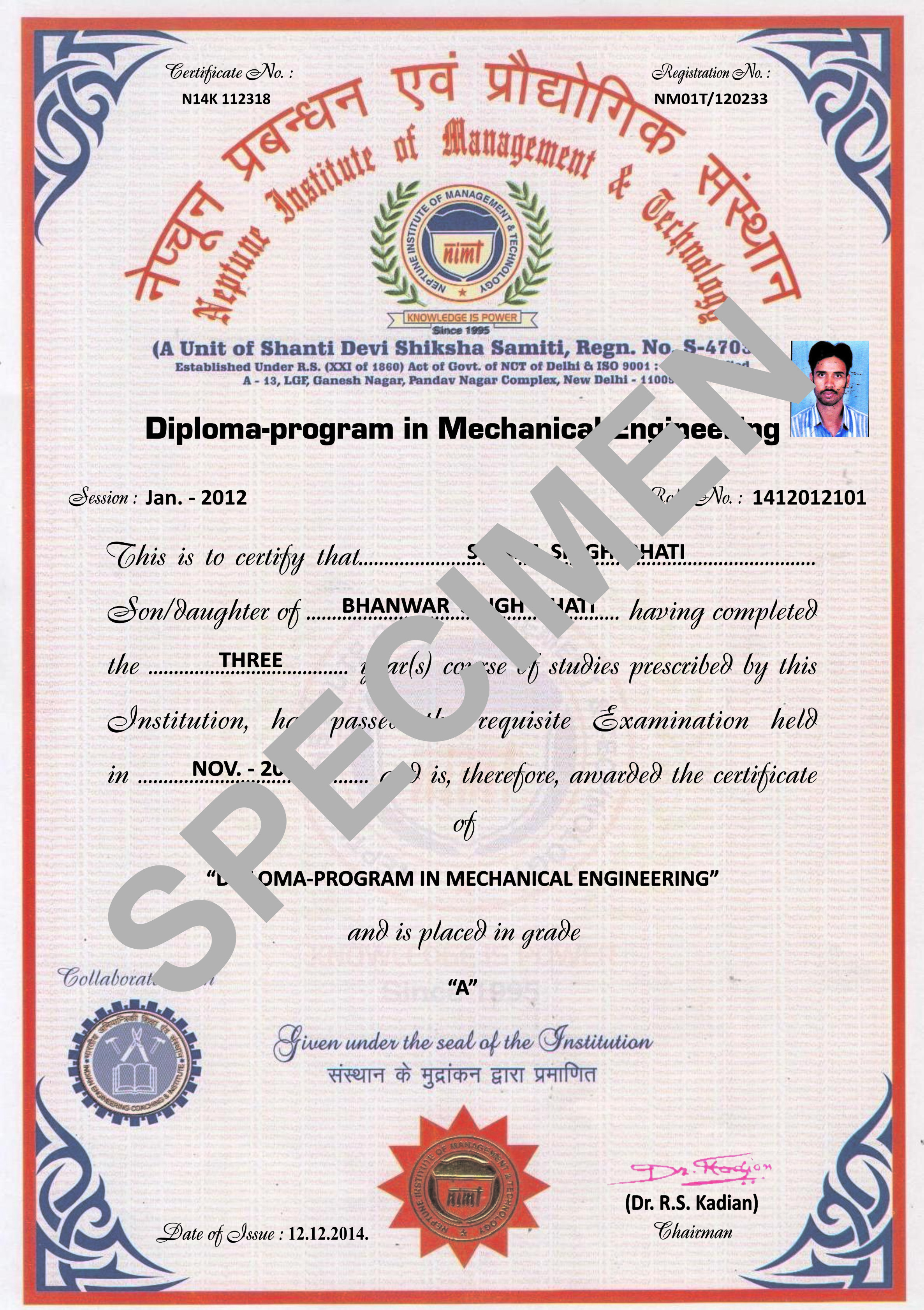 Sample certificate of vinayaka mission university images sample certificate of vinayaka mission university image sample certificate of vinayaka mission university image sample certificate yadclub Choice Image